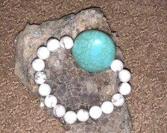 Turquoise Howlite Crystal Bracelet