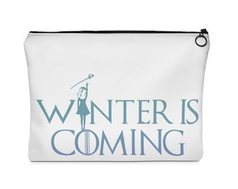 Winter Guard Is Coming (Girl Sabre)  Carry All Pouch - Flat - (Two Sizes) WinteGuard / ColorGuard / Color Guard