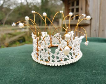 Fairy Coronet/Tiara - Lace Wedding
