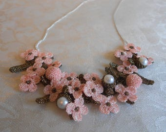 Floral Sterling Silver Necklace