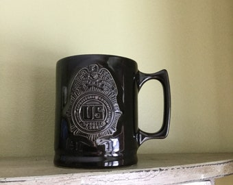 SPECIAL AGENT Coffee Tea Mug Cup Black Federal Eagle made in USA