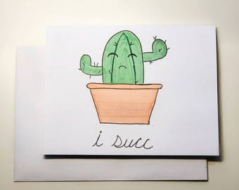 Apology Cactus Card