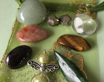 GOODLUCK/PROSPERITY.  7 Crystals for enhancing your Good Luck and Prosperity.