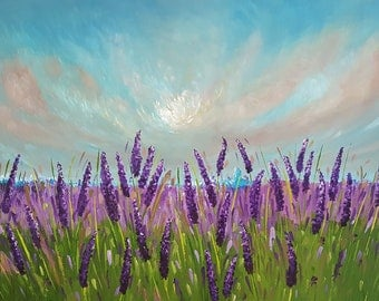 Lavender Fields Forever large canvas