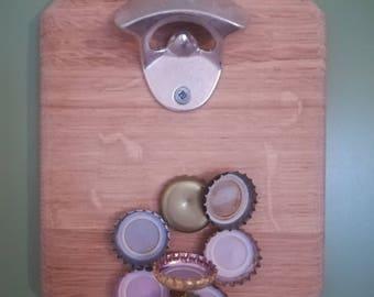 Wall bottle opener