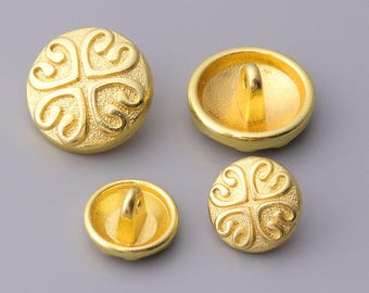 4 heart-shaped  button 10pcs  round gold metal button shank button for shirt sweater 2 sizes 16/12mm