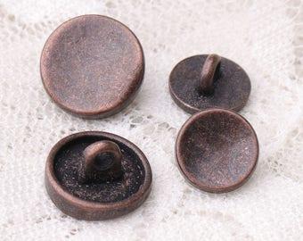 sunken buttons 10pcs 12*6/9*5mm metal buttons copper buttons round shank sewing coat buttons