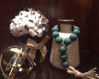 Teal Farmhouse Chippy Beads