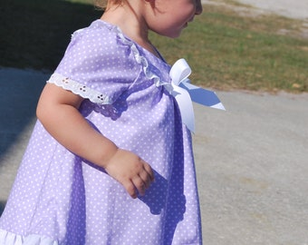 lavender polka dot dress easter spring