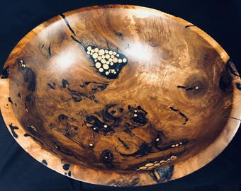 Black Walnut Burl Wood Bowl
