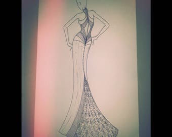 Original fashion illustration