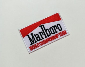Marlboro Logo Embroidered Sew iron on Patch badge