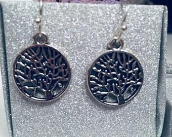 Silver Tree of Life vintage inspired earringa