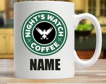 Personalised Nights Watch Coffee Mug