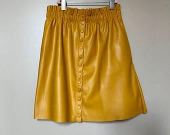 Bright Yellow Mini Skirt