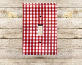 Red Gingham I Decorative Switchplate