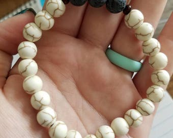Lava Rock Bead Diffuser Bracelet