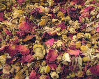 Organic Chamomile Rose Bath Soak | Bath Tea