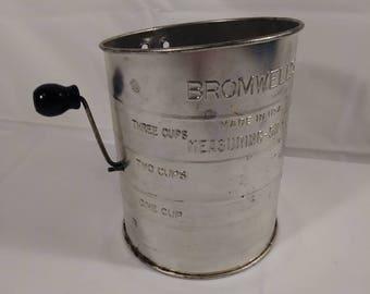 Vintage Bromwells Measuring Sifter