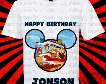 The Flintstones Iron On Transfer, The Flintstones Birthday Shirt DIY, The Flintstones Shirt Designs, The Flintstones, Personalize, Digital