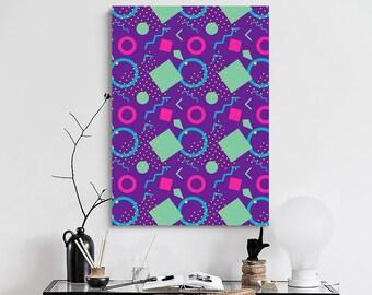 Memphis Geometric Patterns Poster