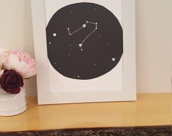 """Framed """"gemini"""" astology  sign"""