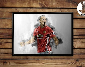 Zlatan Ibrahimovic wall art home decor poster