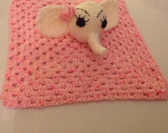 Baby Comfort Blanket with toy elephant
