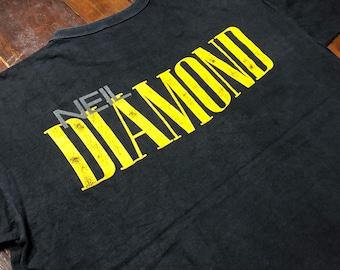 Vintage 90s Neil Diamond T-Shirt size L 2-side