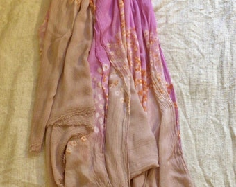 SUN Moroccan hand dyed Scarf eco friendly meditation organic rope handle beach straw bag large big round tote