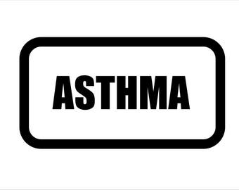 Medical Patch - ASTHMA - Embroidered