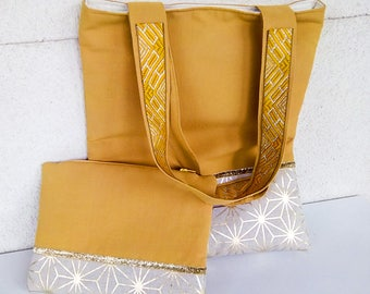 Bag pouch handmade Golden patterns