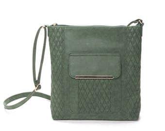 Everday Crossbody Messenger Bag - Green