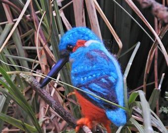 Needle felted Kingfisher