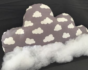Clouds Pillow Cloud Grey deco
