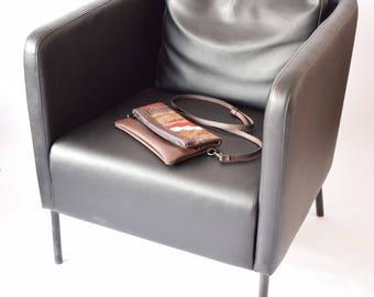 Clutch Bag-017 Handbag Vintage Kilim Rug Genuine Leather Bohemian Bag Boho Bag Hippie Bag