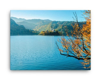 Fall Afternoon on a Lake - High Quality Canvas Print