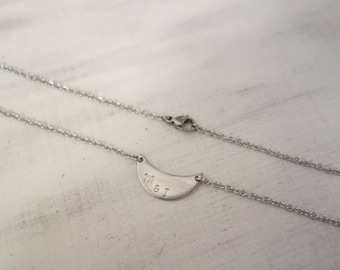 Necklace with pendant incl. personal engraving Moon