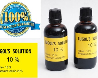Lugols Iodine / 10% Solution / 4 Oz . in an Amber Glass Bottle  USA SELLER