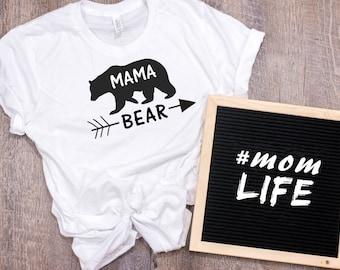 Mama Bear Women's T Shirt UNISEX Bella Canvas Soft Style Motherhood #momlife ladies shirt mom life