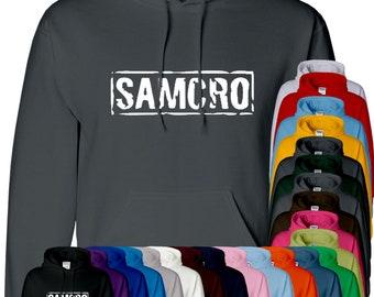 Samcro Mens Hoodie Son Of Anarchey Hoody Top Pullover Jumper