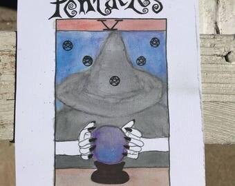 Tarot Card Print: Five of Pentacles