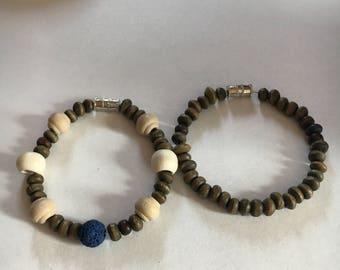 Blue lava bracelets