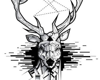 Deer Vector Illustration by MouCreations