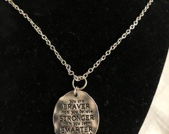 Braver, Smarter, & Stronger Necklace