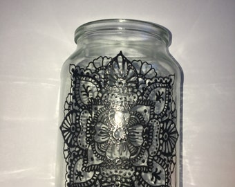 Hand Painted Mandala Design - Large