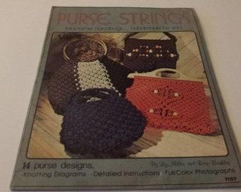 Purse Strings – Macrame Handbags … handmade by you, Vol. II vintage  1976