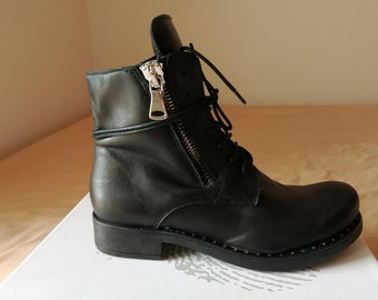 Ankle Boots women real Leather
