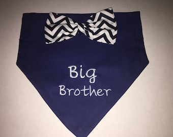 Gender Reveal, Dog Bandana, Big Brother, Pregnancy Reveal, Baby Announcement, New Baby, Photo Shoot, Bow, Dog Lover Gift,  Baby Shower gift