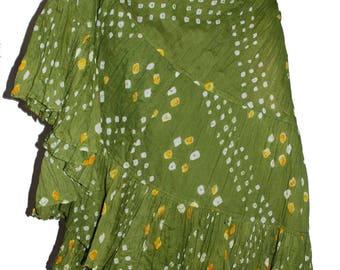 Henna Pistascio Green 25Yard Tribal Gypsy Jaipur Authentic Gypsy ATS Skirt